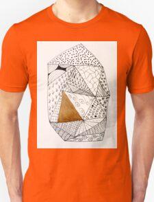 Gold geometric abstract  Unisex T-Shirt