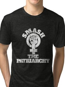 Smash the Patriarchy retro  Tri-blend T-Shirt