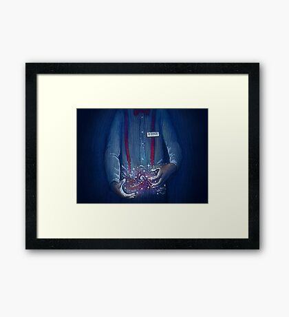 Dr Who Here to Help Framed Print