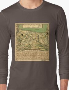 American Revolutionary War Era Maps 1750-1786 744 Plan of Fort William Henry and camp at Lake George Long Sleeve T-Shirt