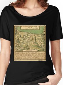 American Revolutionary War Era Maps 1750-1786 744 Plan of Fort William Henry and camp at Lake George Women's Relaxed Fit T-Shirt