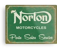 Norton parts, sales, service sign Metal Print