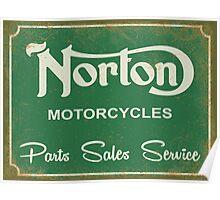 Norton parts, sales, service sign Poster