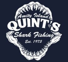 Quint's Shark Fishing Amity Island One Piece - Long Sleeve