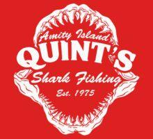 Quint's Shark Fishing Amity Island Kids Tee
