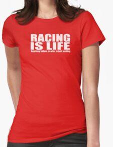 racing motor bike Womens Fitted T-Shirt