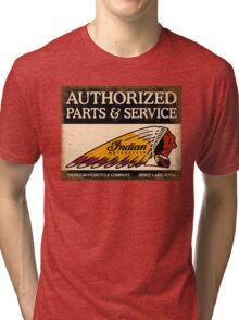 Indian Parts and Service sign Tri-blend T-Shirt