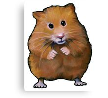 Little Hamster: Original Art, Standing Hamster Canvas Print