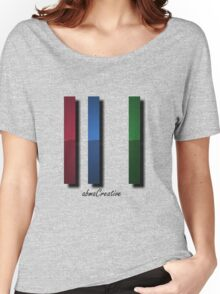 RGB Lines Rough Women's Relaxed Fit T-Shirt