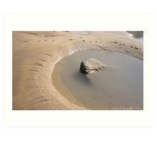 TIDAL ROCK POOL AT SANDYMOUTH BEACH CORNWALL Art Print