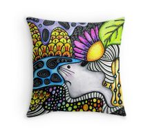 Psychedelic Chinchilla Throw Pillow
