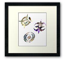 Fire Emblem Fates - Hoshido, Nohr & Valla Symbols Framed Print