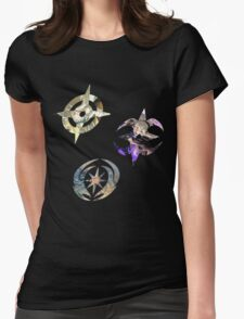 Fire Emblem Fates - Hoshido, Nohr & Valla Symbols Womens Fitted T-Shirt