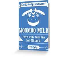 MooMoo Milk old ad Greeting Card