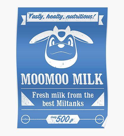 MooMoo Milk old ad Poster