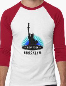 The Big Apple, NY Men's Baseball ¾ T-Shirt