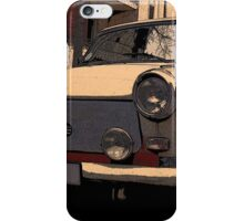 trabant east germany, trabant vs. audi a6 iPhone Case/Skin