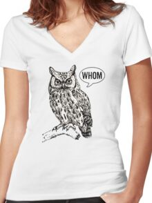 Whom Women's Fitted V-Neck T-Shirt
