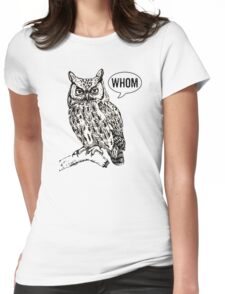 Whom Womens Fitted T-Shirt