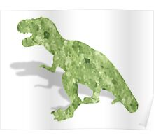 Water color t-rex Poster