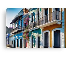 Colors of Old San Juan IV Canvas Print