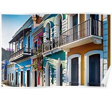 Colors of Old San Juan IV Poster
