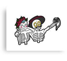 Selfie Skeletons Canvas Print