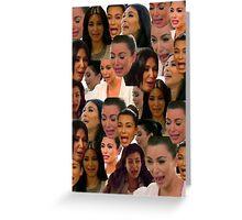 Kim Kardashian Collage // Greeting Card