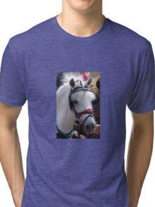 WHITE PONY Tri-blend T-Shirt