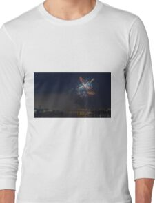 Fireworks at night in summer Long Sleeve T-Shirt