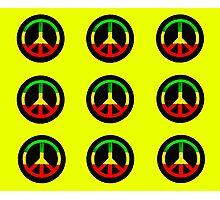 Reggae Peace Symbols Photographic Print