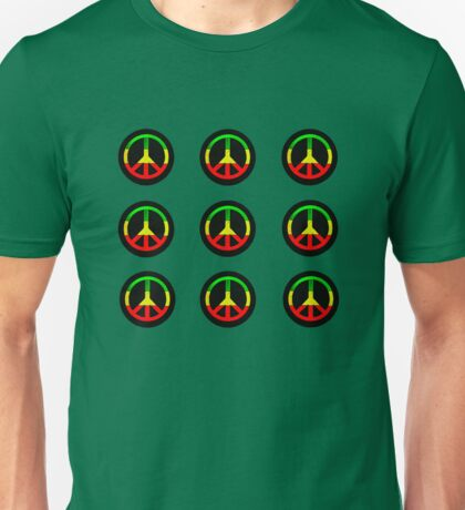 Reggae Peace Symbols Unisex T-Shirt