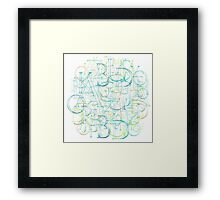 Alphabet Cloud Framed Print