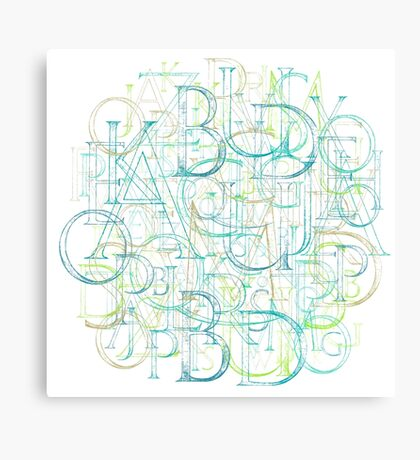 Alphabet Cloud Canvas Print
