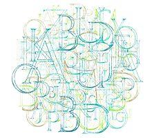 Alphabet Cloud Photographic Print