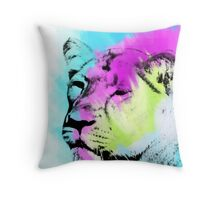 Disco Lioness Throw Pillow
