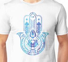 Hamsa Hand Hippie Blue Unisex T-Shirt
