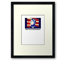 Hillary Clinton Election 2016 - More Love and Kindness Red Framed Print