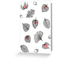 Physalis and skeleton leaves Greeting Card