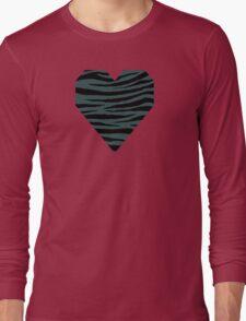 0199 Dark Slate Gray Tiger Long Sleeve T-Shirt