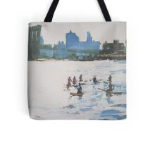 brooklyn bridge stand up paddling Tote Bag