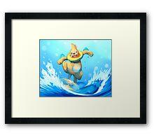 Aqua Jet! Framed Print