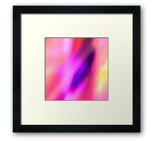 Fuchsia Pink Purple and Violet Abstract Glow  Framed Print