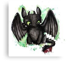 Toothless Watercolor Canvas Print