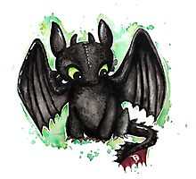 Toothless Watercolor Photographic Print