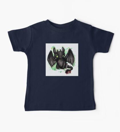 Toothless Watercolor Baby Tee