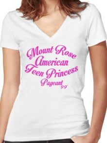 Mount Rose American Teen Princess Pageant 99' Women's Fitted V-Neck T-Shirt