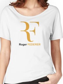 Roger Federer RF Logo Women's Relaxed Fit T-Shirt