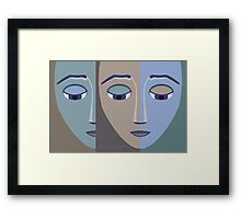 FACES #2 Framed Print