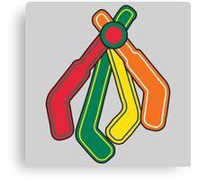 Blackhawks Feathers as hockey sticks Canvas Print